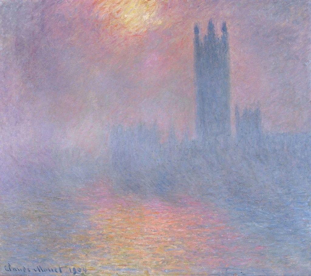 claude monet houses of parliament fog