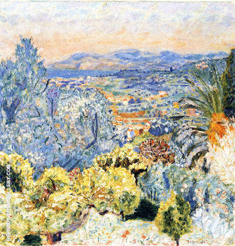 The Cote d'Azur 1923 By Pierre Bonnard - Oil Paintings & Art Reproductions - Reproduction Gallery