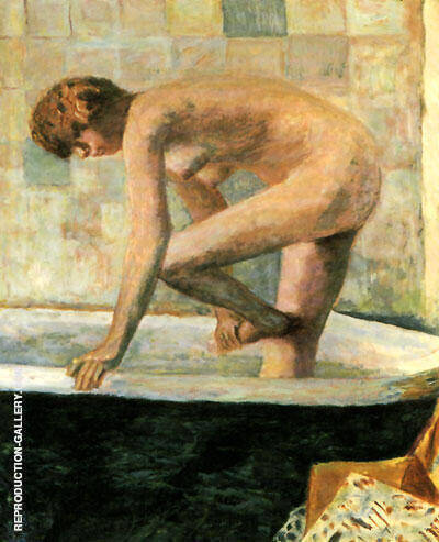 Pink Nude in the Bathtub 1924 Painting By Pierre Bonnard