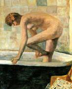 Pink Nude in the Bathtub 1924 By Pierre Bonnard