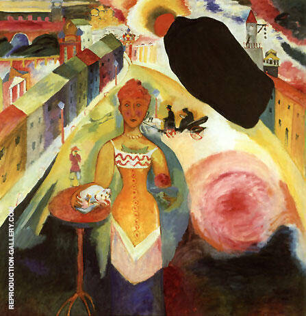 Dame in Moscow 1912 By Wassily Kandinsky - Oil Paintings & Art Reproductions - Reproduction Gallery