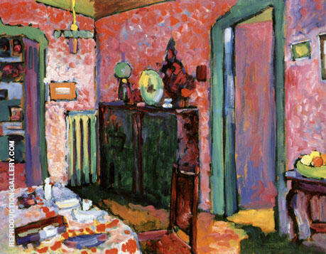 My Dining Room 1909 Painting By Wassily Kandinsky - Reproduction Gallery
