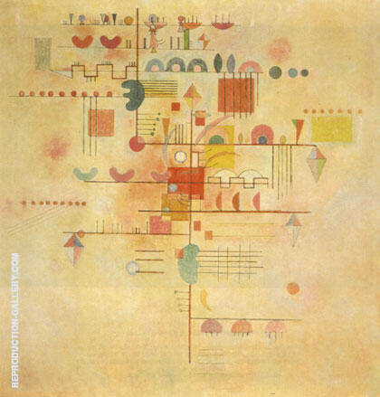 Tender Ascent 1934 By Wassily Kandinsky Replica Paintings on Canvas - Reproduction Gallery