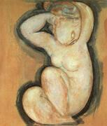 Caryatid 1913 By Amedeo Modigliani