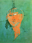 Head of Young Woman 1915 By Amedeo Modigliani