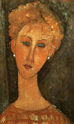 Woman with Earrings 1917 By Amedeo Modigliani
