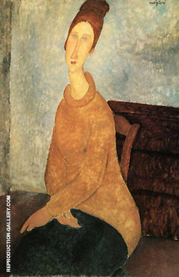 Yellow Sweater 1919 By Amedeo Modigliani - Oil Paintings & Art Reproductions - Reproduction Gallery