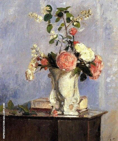 Bouquet of Flowers  1873 By Camille Pissarro - Oil Paintings & Art Reproductions - Reproduction Gallery