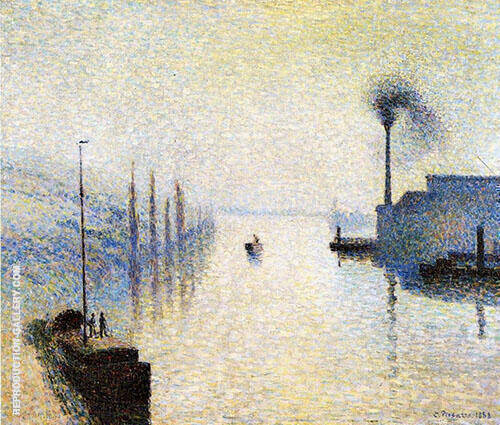 River Early Morning 1888 Painting By Camille Pissarro