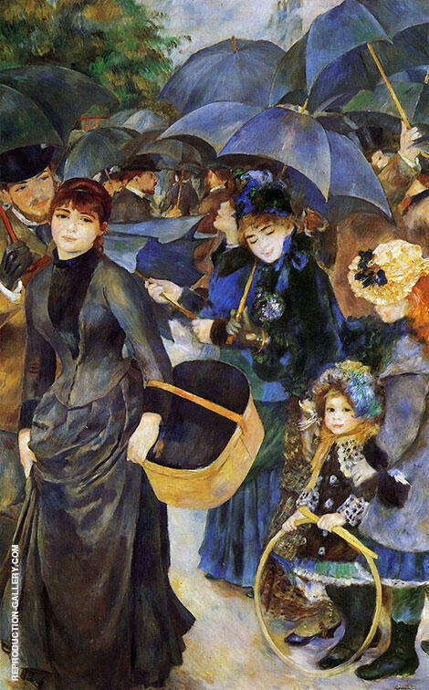 The Umbrellas 1881 By Pierre Auguste Renoir - Oil Paintings & Art Reproductions - Reproduction Gallery