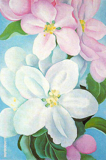 Apple Blossoms 1930 Painting By Georgia O'Keeffe - Reproduction Gallery