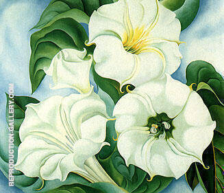 Jimson Weed 1936 By Georgia O'Keeffe - Oil Paintings & Art Reproductions - Reproduction Gallery