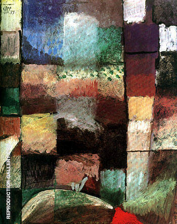 On a Motif from Hamamet 1914 By Paul Klee Replica Paintings on Canvas - Reproduction Gallery