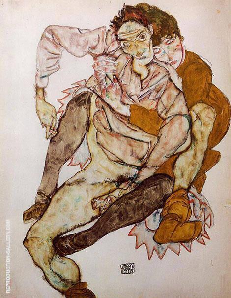 Embrace 1915 By Egon Schiele