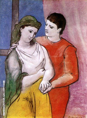 The Lovers 1923 By Pablo Picasso - Oil Paintings & Art Reproductions - Reproduction Gallery