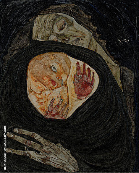 Reproduction of Dead Mother 1910 by Egon Schiele | Oil Painting Replica On CanvasReproduction Gallery