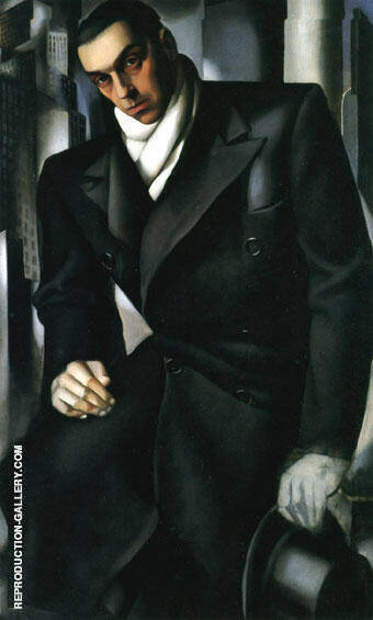 Reproduction of Tadeusz de Lempicki unfinished by Tamara de Lempicka | Oil Painting Replica On CanvasReproduction Gallery