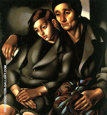The Refugees 1937 By Tamara de Lempicka - Oil Paintings & Art Reproductions - Reproduction Gallery