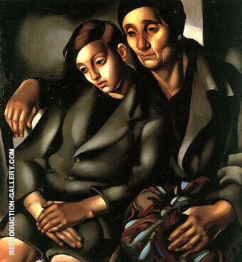 The Refugees 1937 By Tamara de Lempicka
