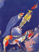 Clown on a Horse 1927 By Marc Chagall