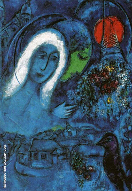 Champs de Mars 1952 By Marc Chagall Replica Paintings on Canvas - Reproduction Gallery