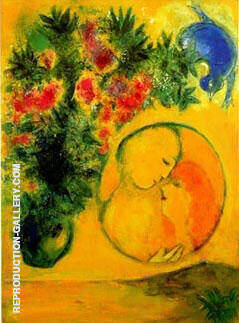 Sun and Mimosa 1949 By Marc Chagall
