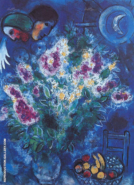 Still Life with Flowers 1948 By Marc Chagall