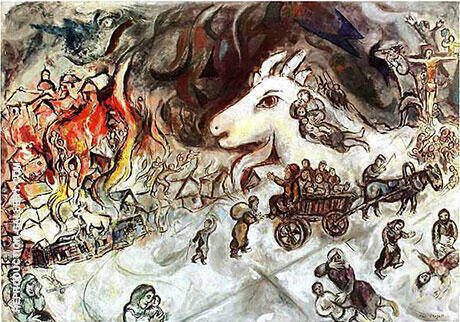 Krieg By Marc Chagall - Oil Paintings & Art Reproductions - Reproduction Gallery