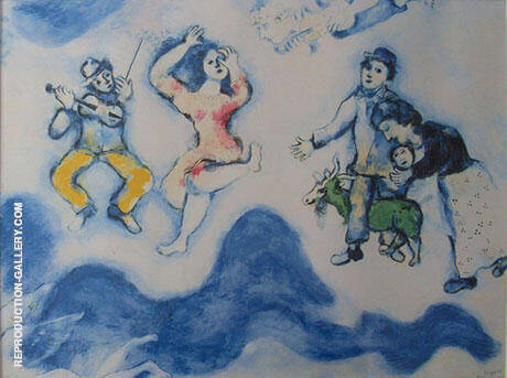 Die Gefaehrten Charlots 1939 By Marc Chagall Replica Paintings on Canvas - Reproduction Gallery