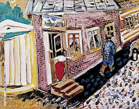 The Street Painting By Marc Chagall - Reproduction Gallery