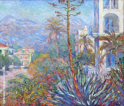 Villas at Bordighera 1888 By Claude Monet