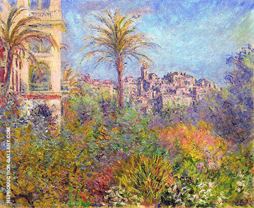 Villas at Bordighera 1888 2 By Claude Monet