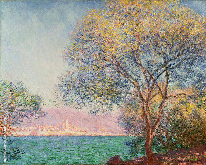 Antibes Morning 1888 By Claude Monet