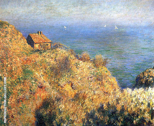 Reproduction of Fisherman's House at Vareneville 1882 by Claude Monet | Oil Painting Replica On CanvasReproduction Gallery