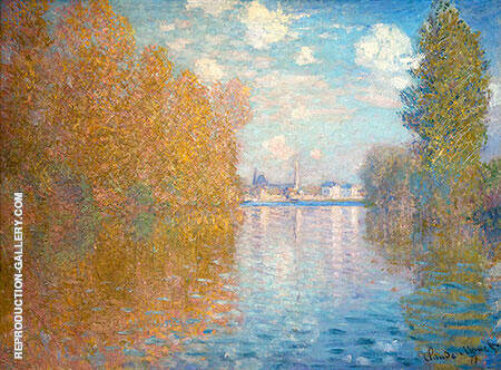 Autumn Argentuil 1873 By Claude Monet