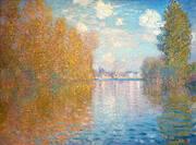 Autumn Argentuil 1873 By Claude Monet