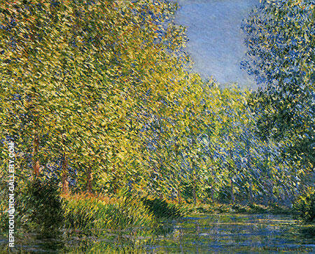 Bend in the Epte River By Claude Monet Replica Paintings on Canvas - Reproduction Gallery