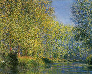 Bend in the Epte River By Claude Monet
