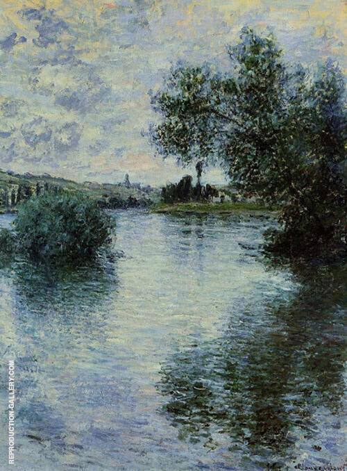 The Seine at Vetheuil By Claude Monet Replica Paintings on Canvas - Reproduction Gallery
