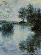 The Seine at Vetheuil By Claude Monet