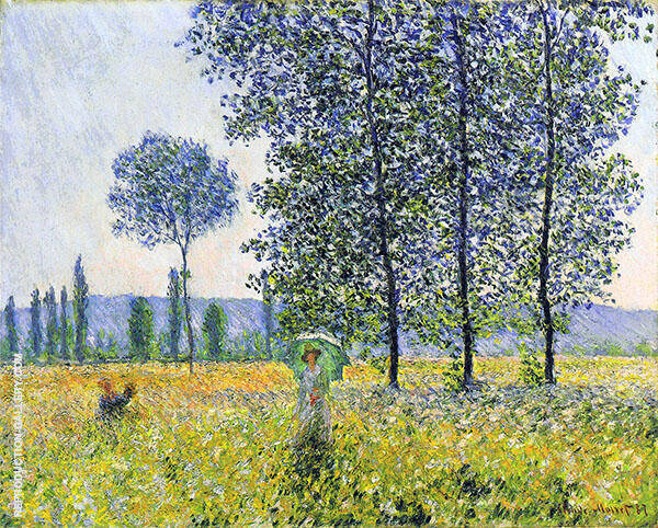 Sunlight Under the Poplars Painting By Claude Monet - Reproduction Gallery