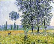 Sunlight Under the Poplars By Claude Monet
