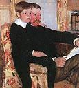 Alexander Cassatt and His Son Robert 1985 Detail By Mary Cassatt