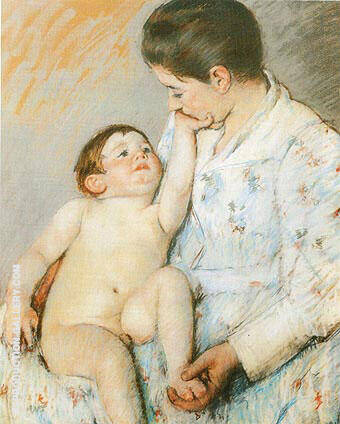 Reproduction of Baby's First Caress by Mary Cassatt | Oil Painting Replica On CanvasReproduction Gallery