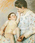 Baby's First Caress By Mary Cassatt