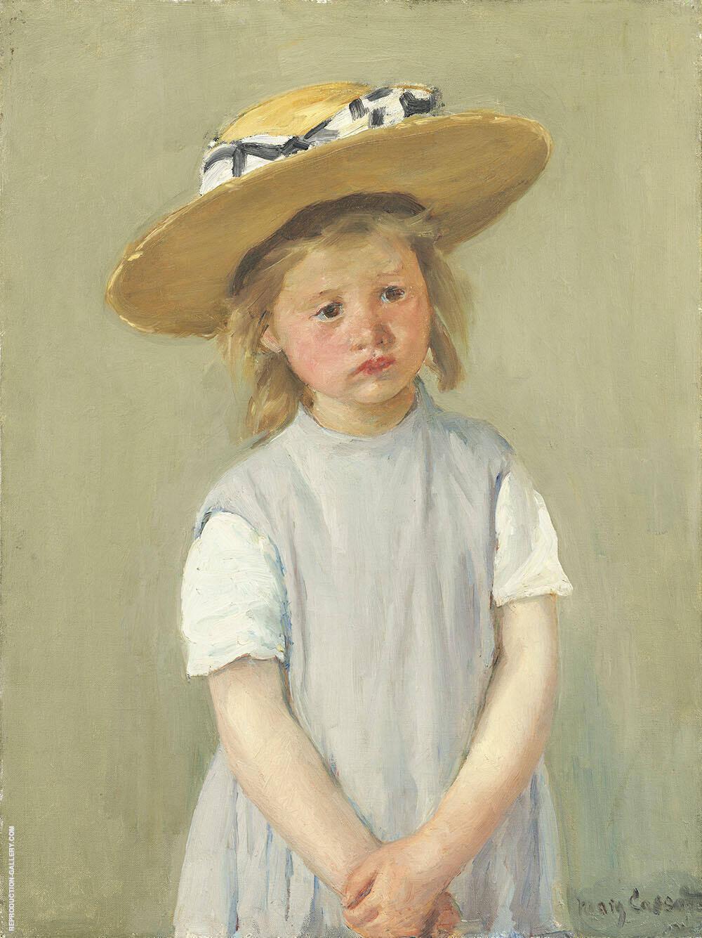Child in Straw Hat By Mary Cassatt