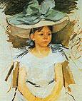 Ellen Mary Cassatt in a Big Blue Hat By Mary Cassatt