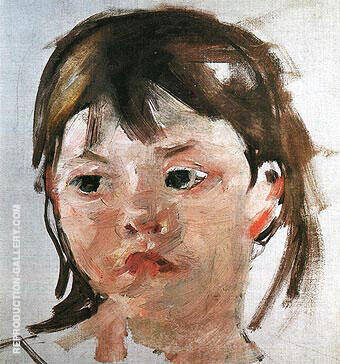 Head of a Little Girl By Mary Cassatt Replica Paintings on Canvas - Reproduction Gallery