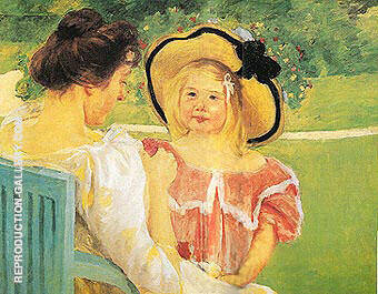 In the Garden 1904 By Mary Cassatt - Oil Paintings & Art Reproductions - Reproduction Gallery