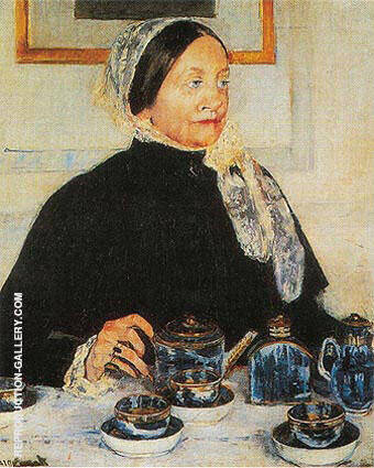 Lady at the Tea Table 1885 By Mary Cassatt - Oil Paintings & Art Reproductions - Reproduction Gallery